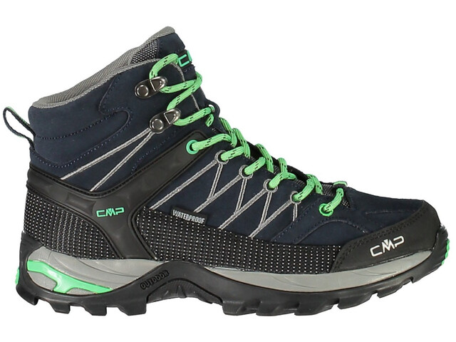 CMP Campagnolo Rigel Mid WP Trekking Shoes Dame asphalt-ice mint